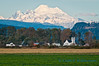 Conway church, with Mount Baker