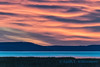 Fiery skies over the Skagit river delta