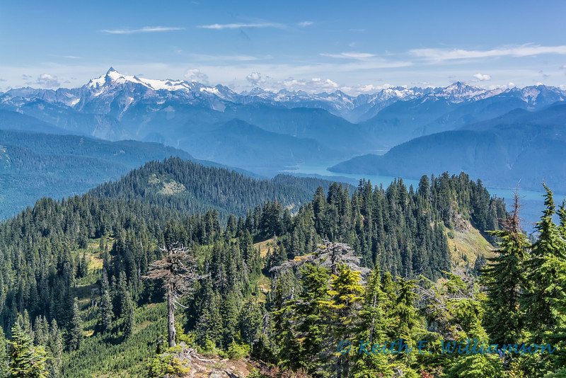 Mount Shuksan, the North Cascades, and Baker Lake, from Dock Butte