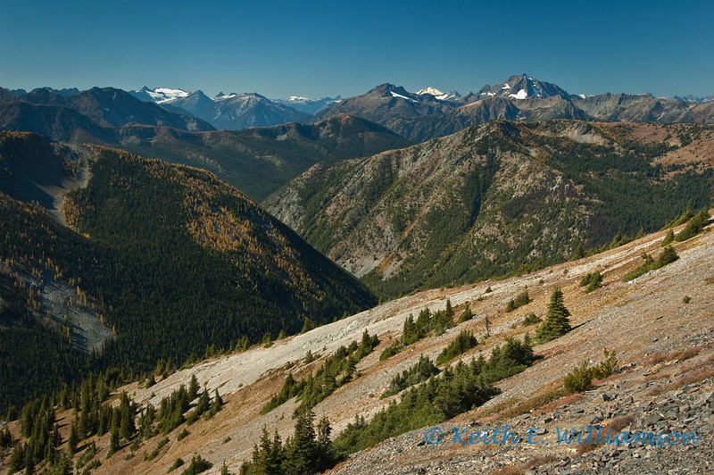 View west from Slate Peak, near Hart's Pass