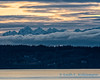 Winter skies over the Olympic Mountains and Whidbey Island