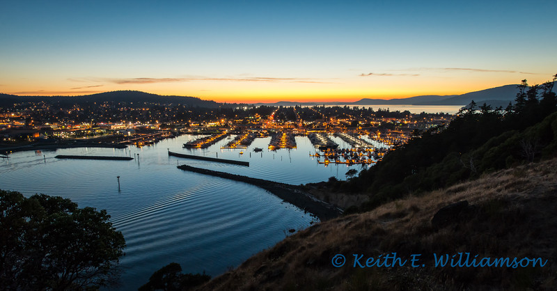 Anacortes, from Cap Sante, after sunset