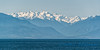 Mount Carrie and Mount Olympus, Olympic Mountains, from Victoria, BC