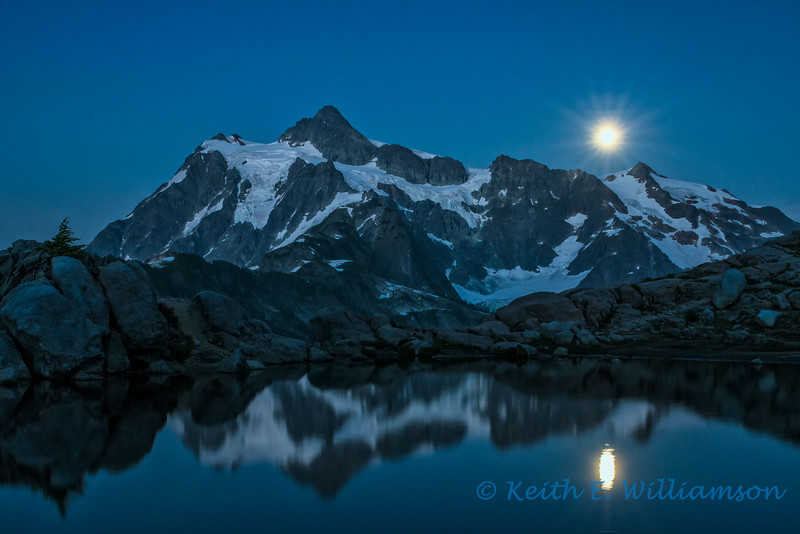 Super Moon over Mount Shuksan, Artist's Point