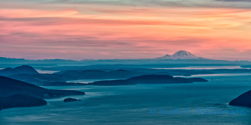 Puget Sound and Mount Rainier, from Mount Constitution, Orcas Island