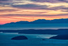 Dusk over the Olympic Mountains, from Mount Constitution