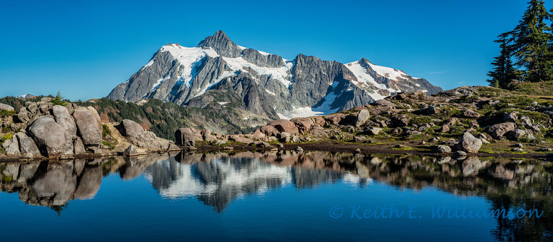 Mount Shuksan, artist's point (three images stitched).