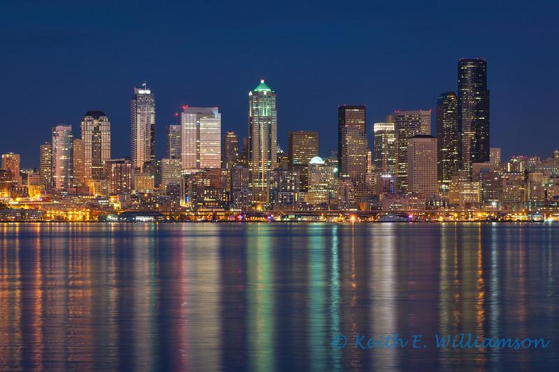 Seattle Skyline, at dusk