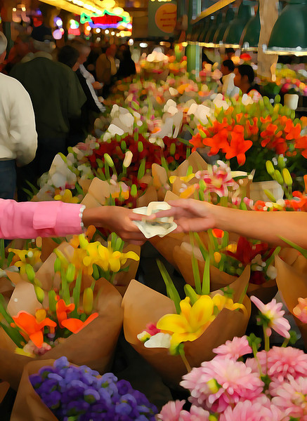 Flower Vendor - Pike Place Market