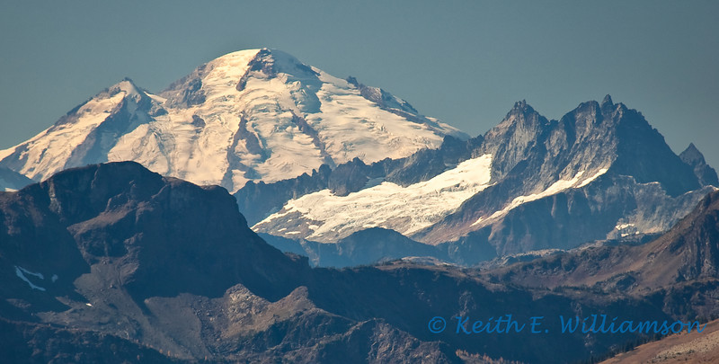 Mount Baker, from Slate Peak far to the east