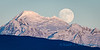 Super moon and Mount Baker