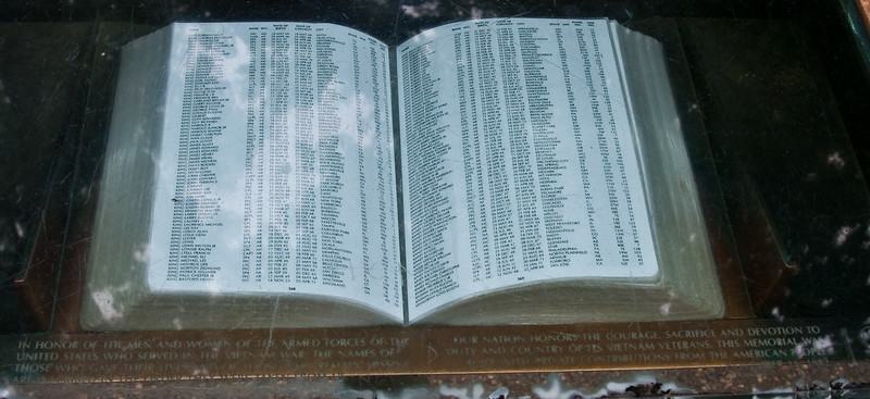 One of the books used to find the location of names along Vietnam Memorial