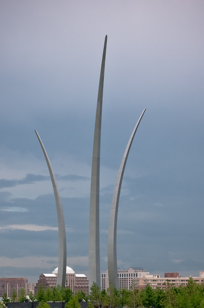 Air Force Memorial from Arlington Cemetery.