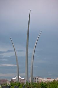 Air Force Memorial from Arlington Cemetery.