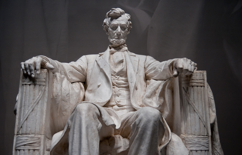 This was the original model 1/32 size that the artist used for Lincoln.   Memorial.  This is on exhibit in Museum of American History