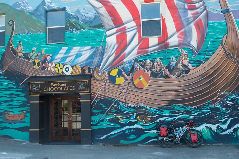 Viking mural