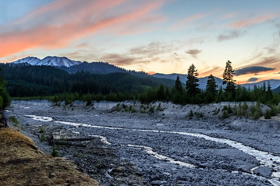 Mount St. Helens Sunset, South Smith Creek Trailhead