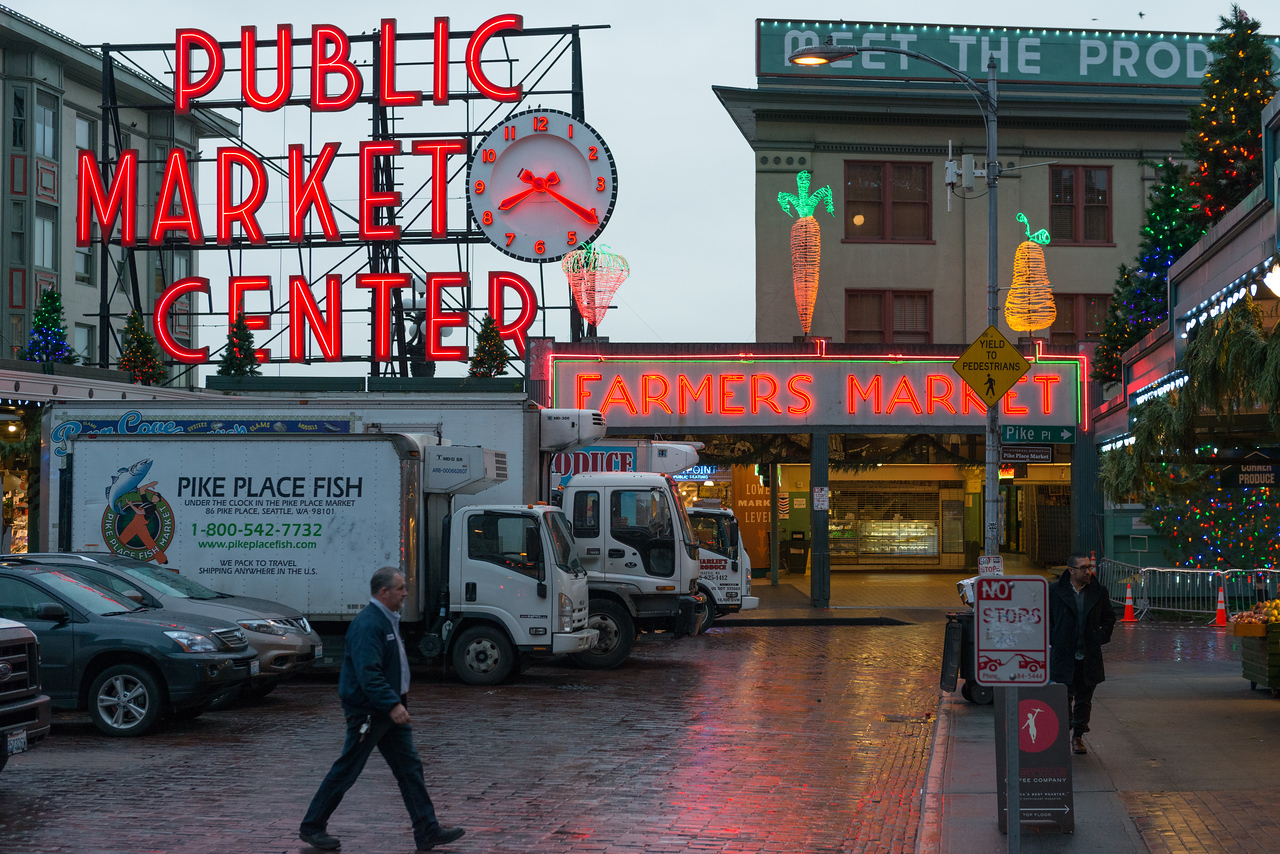 20141223. Public Market on Pike Place, Seattle WA.