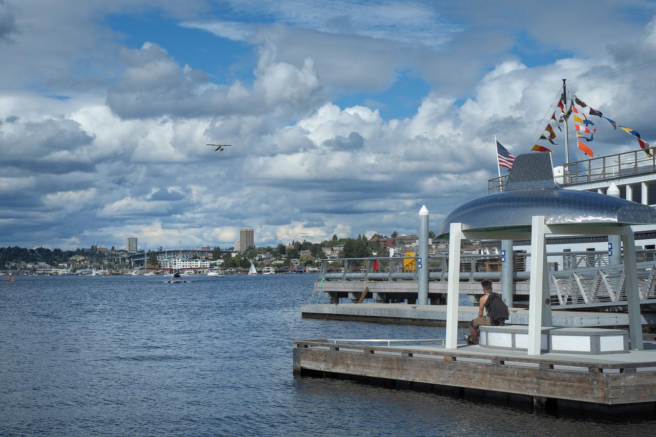 17 August 2013.  Lake Union from South Lake Union Park, Seattle WA.