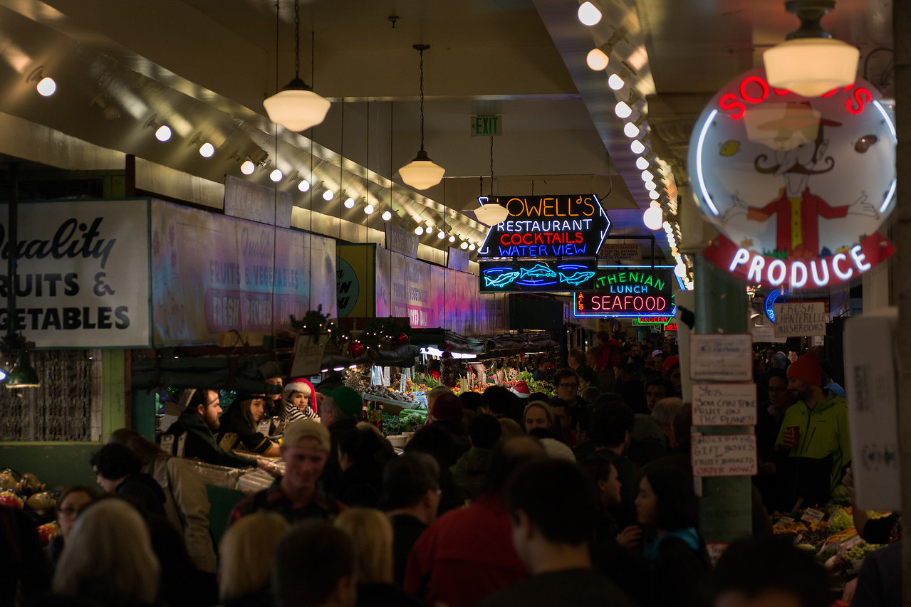 24 December 2013.  Pike Place Market, Seattle.