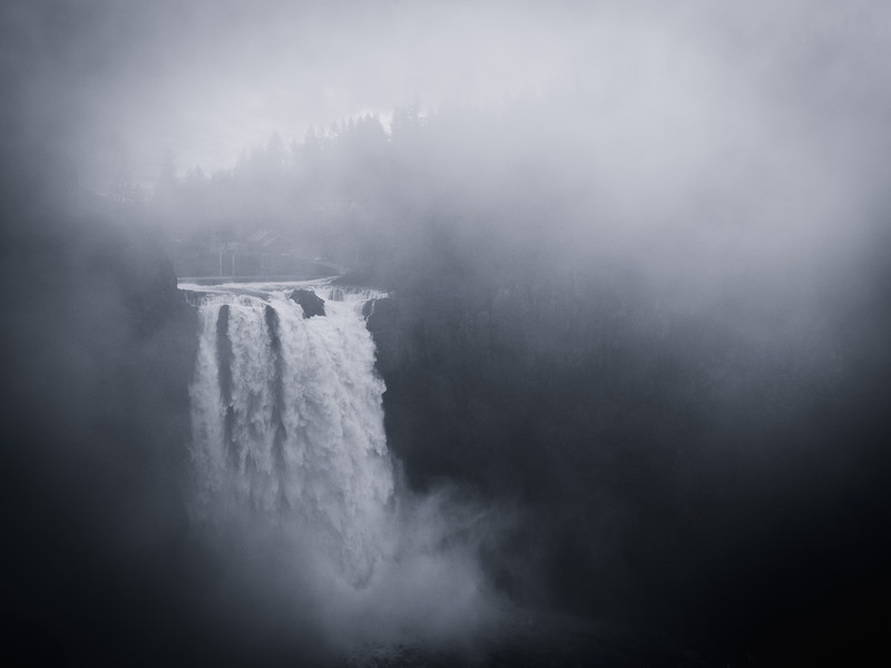 25 December 2013.  Snoqualmie Falls, Washington.