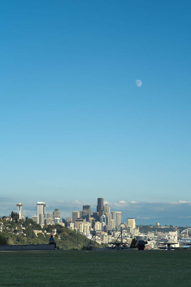 17 August 2013.  Seattle WA.  View from Ella Bailey Park.