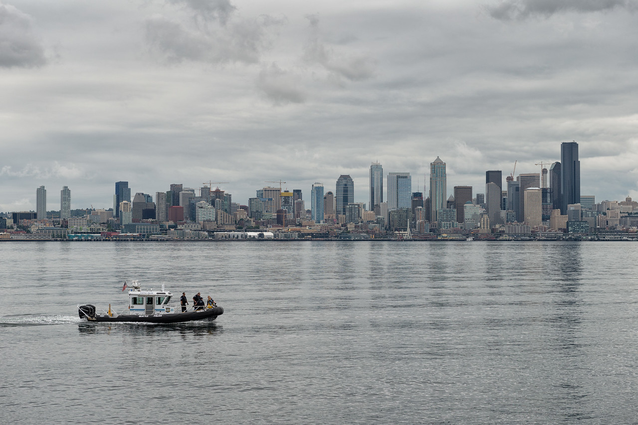 20160722.  View of downtown Seattle from Duwamish Head, Alki, Seattle WA.