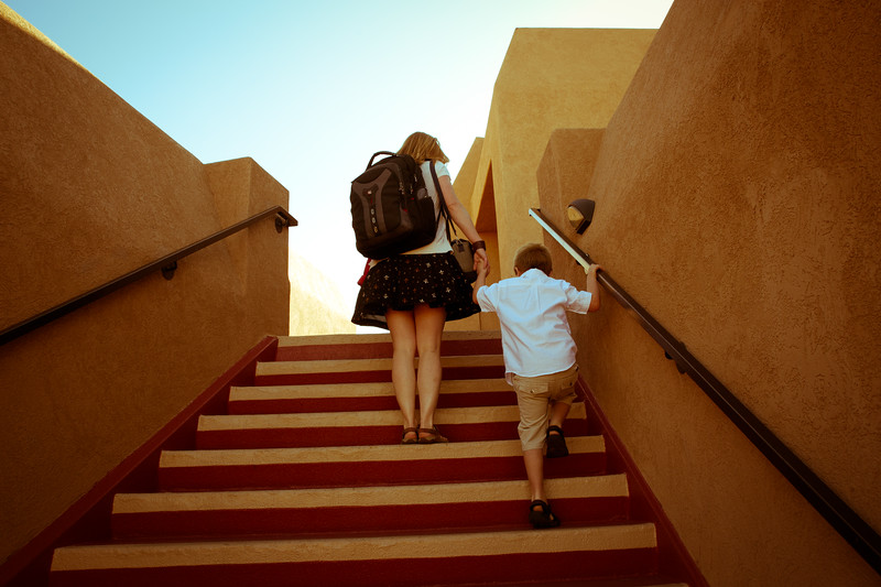 Marisa and Vincent at the hotel in Sedona, AZ.