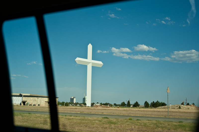 A Big Cross as seen while driving through Texas