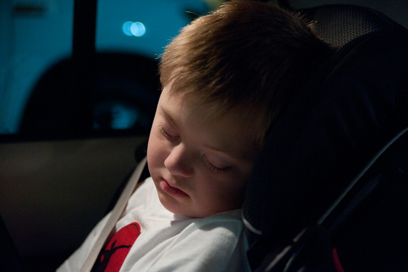 Vincent Asleep in the Car