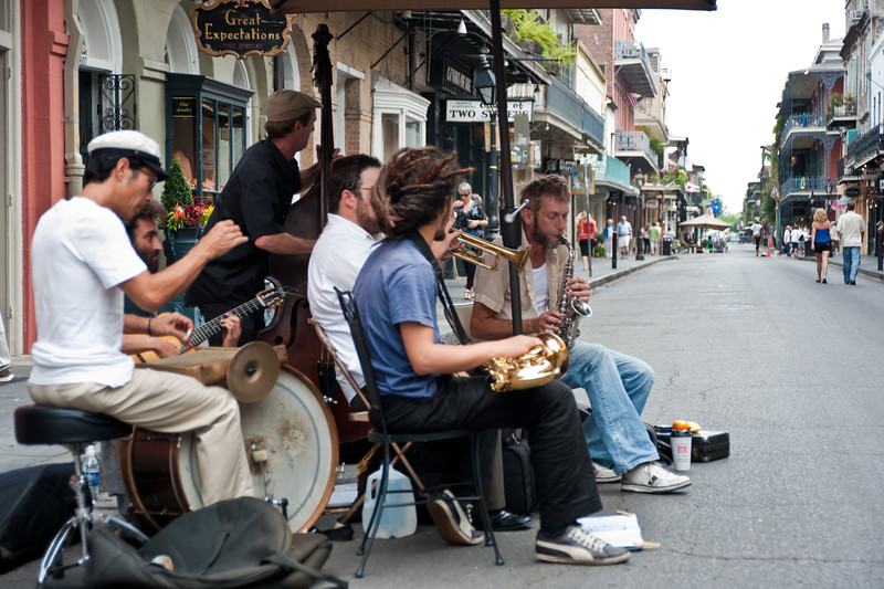 Live music in the French Quarter, NOLA