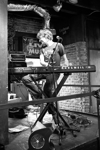 An keyboard player in the French Quarter's Old Opera House. NOLA.