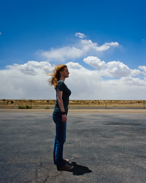 Marisa enjoying the winds of New Mexico. 20-30mph winds with 60mph gusts.