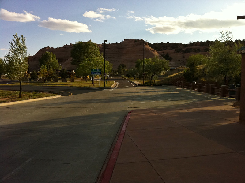 Nice View - the parking lot at the AZ Welcome Center on I-40