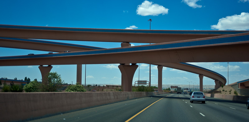Passing through Albuquerque, we admired the bridges and overpasses.