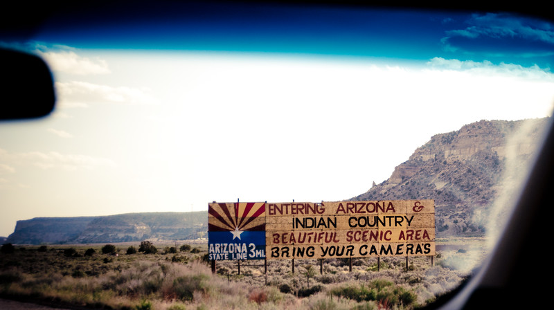 Entering Arizona & Indian Country / Beautiful scenic area / Bring your cameras