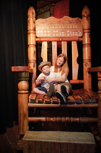 Marisa and Vincent Lounging at The Big Texan in Amarillo, Texas