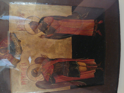 Archangel Michael and the holy Christophorus Kynokephalos