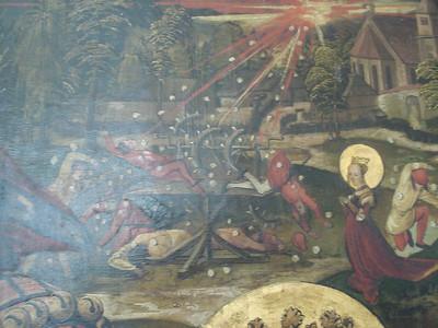 Martyrium der heiligen Katharina, detail
