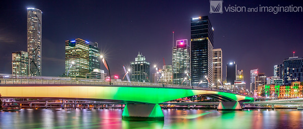 Victoria Bridge Brisbane (Australia Day)