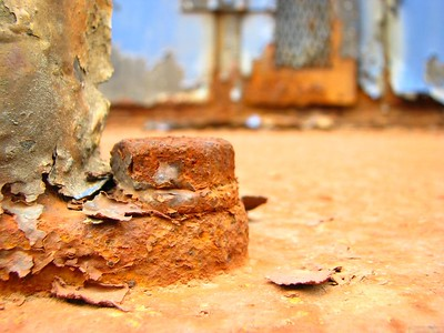 Rusty locomotive detail