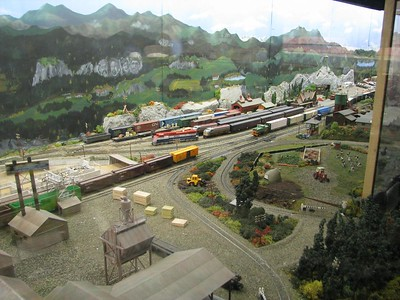 Model  Partial overview of a model railway setup at the museum.