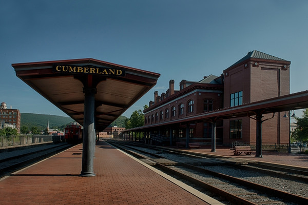 Scenic Railroad station in Cumberland
