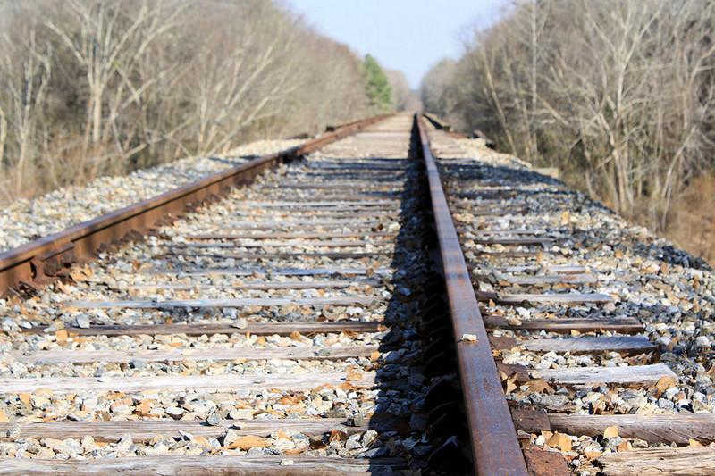 Railroad crossing bridge into Montgomery County