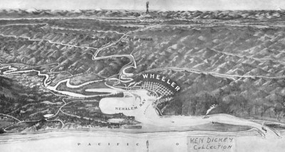 Wheeler boomed when the railroad from Portland arrived in 1911 and developers advertised the town as The Last Gateway to the West.