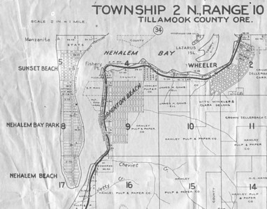 Early plat maps suggested great profits from real estate investments in Wheeler, Brighton and lots across the bay on Nehalem spit.