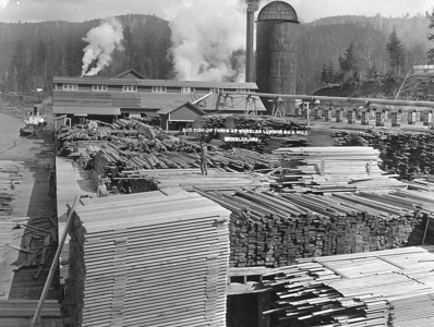 The lumber from the mill went by train to Portland and by ship to the booming cities of California.