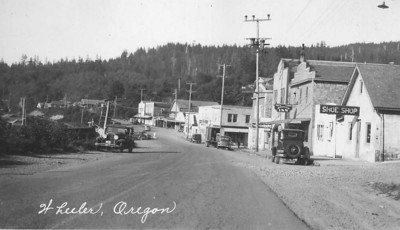 Main street in the 1930s.