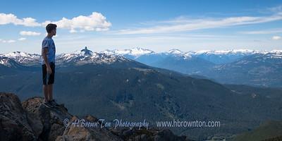 Enjoying the view of Fitzsimmons Range