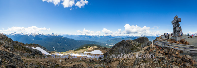 Panoramic of Whistler Peak
